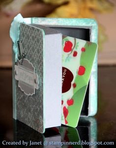 Stampin Nerd: Book Lovers Gift Box - Tutorial