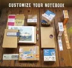 Vertikaal ring-boekje met 12 enveloppen met raampjes voor het verzamelen van fotootjes, bonnetjes, visitekaartjes en andere souvenirs