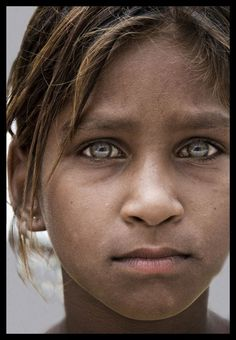 'Grey Eye Beauty', foto gemaakt in Rajasthan, India.