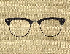 0f6e9b5ca67e Items similar to Vintage Ray Ban Glasses Eyeglasses Spectacles Instant  Digital Graphic Download for transfer to fabric