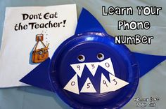 Mommy and Me Book Club: Kindergarten is FIN-tastic!  So many cute ideas, and I especially love this game for teaching a child his phone number.