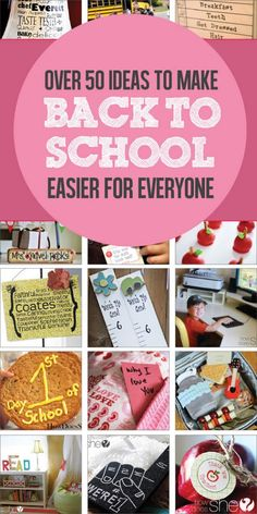 50 Ideas to Make 'Back to School' Easier for Everyone! #traditions #treats #teachers #gifts #lunches
