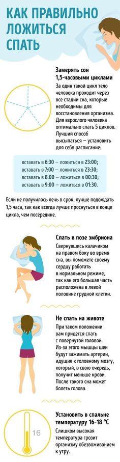 Инфографика. Правила здорового сна