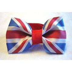 Union jack great britain flag bow tie