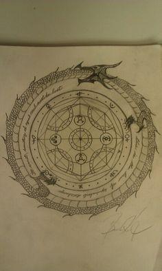 Transmutation circle I drew hope to get it tattooed one day ( from fullmetal alchemist ).