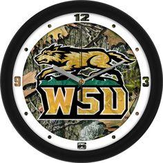 Mens Wright State Raiders - Camo Wall Clock