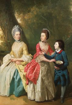 ''The Drummond Family - Johan Zoffany. Detail.'' Unlike his contemporaries Zoffany did not apply his own aesthetic but appeared to record what was before him - sometimes to surprising effect.