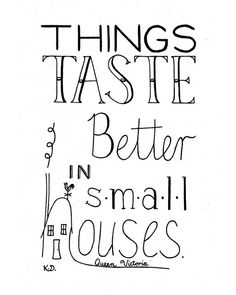 Small Houses Quote Apartment Quote Food Quote Queen by CornerChair, $18.50
