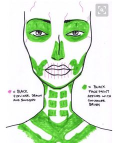 Skeleton makeup                                                       …