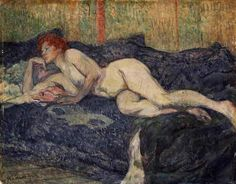 Reclining Nude, 1897 I love that they used to find real bodies beautiful. Now if u look like this people call u fat. Love it