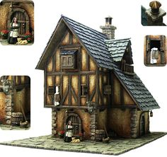 Tabletop World Medieval Buildings, Landscapes for your games played on tabletop..