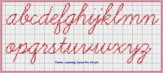 Newest Pic Cross Stitch alphabet Concepts Because I've been mix regular sewing considering I used to be her We at times assume that anyone already is Embroidery Stitches, Embroidery Patterns, Stitch Patterns, Beading Patterns, Crochet Patterns, Crochet Edgings, Cross Stitch Letters, Alphabet Design, Straight Stitch