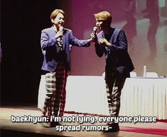 Middle Baekhyun messing with Oldest Xiumin 4/4