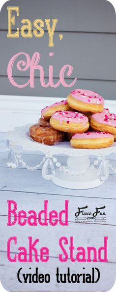 I love this cake stand tutorial! I'm so making one of these. I love how there's a video to walk me through it. It's so easy! Cake And Cupcake Stand, Cupcake Cakes, Cake Stands, Craft Projects For Adults, Craft Ideas, Fun Projects, Diy Ideas, Crafts To Make, Easy Crafts