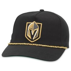 new style e3636 09673 Men s Vegas Golden Knights American Needle Black Cappy Adjustable Hat, Your  Price   31.99