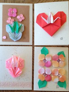 Thinking of you origami flower card ms origami favorites fun origami cards mightylinksfo