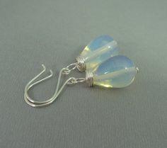 Opal wire wrapped earrings /silver earrings with by AlcazarDesigns, €10.00