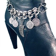 BOHO Boot Bling Bracelet Bling Jewelry Chain Coin Luck Accessory | OrrWhat - Jewelry on ArtFire