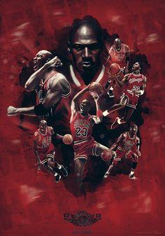 Michael Jordan - 50th birthday by Caroline Blanchet