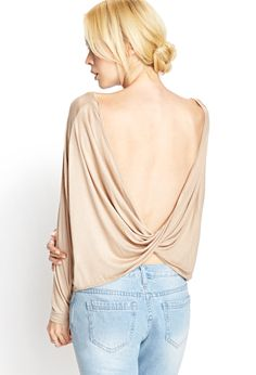 Cowl Back Knit Top | FOREVER21 - 2000059105