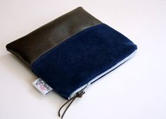 velvet and leather pouch by FlyChicks