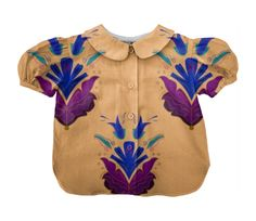 Checkout this design on Blue And Purple Flowers, Blouse Designs, Custom Made, Folk, Lady, Collection, Shopping, Popular, Forks