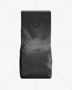 Coffee Bag With Valve Black Black Plastic Coffee Bag With Valve Package Template Mockup