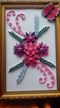 SREE CREATIONS: PAPER QUILLED WALL HANGING AND EARRINGS