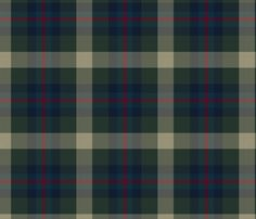 Forest Green Plaid fabric by Home Team Designs on Spoonflower - gorgeous custom fabric!