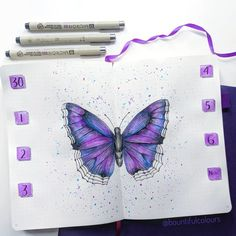 Want a unique theme for your next bullet journal spreads? Try a fun butterfly theme! It's a terrific bullet journal theme for many types of styles. Bullet Journal Printables, Journal Template, Bullet Journal Themes, Bullet Journal Spread, Bullet Journal Layout, Bullet Journal Inspiration, Bullet Journals, Planner Doodles, Planner Journal