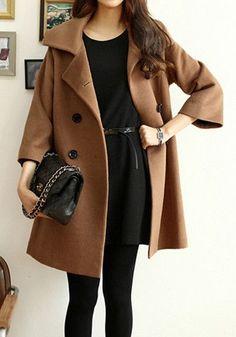 street style camel coat