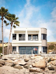 """Actor Bryan Cranston's Green Beach House Renovation  The star behind the hit television show Breaking Bad opens up his Malibu home that he shares with wife Robin Dearden. Fun fact: He previously lived in a shack! Says Cranston, """"Part of the green philosophy is not just what is cheaper; it's what's sustainable,"""" Cranston explains. """"The titanium cladding was more expensive, but this is a house we plan to be in for the rest of our lives, so we wanted something that needed virtually no…"""