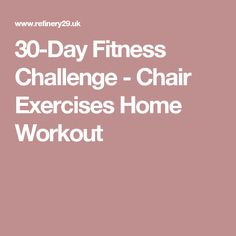 30-Day Fitness Challenge - Chair Exercises Home Workout