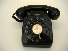 party line.  I remember when my grandma shared with three families!