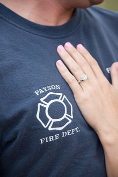 Payson Firefighter Engagement Photo Source by Fireman Wedding, Firefighter Wedding, Firefighter Love, Firefighter Quotes, Volunteer Firefighter, Engagement Shoots, Engagement Photography, Wedding Engagement, Firefighter Engagement Pictures