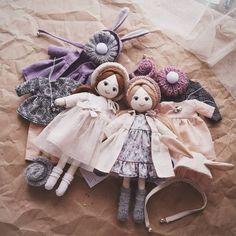 Девчоночки#lerusha #doll #handmade #gift