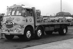 ERF KV series 6x2. Wheel arrangement often referred to as a 'Chinese Six'.