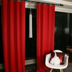 Red Blackout Curtain Drapery Panel For Living Room And Bedroom Solid Blackout  Curtains Customised Curtains Nursery