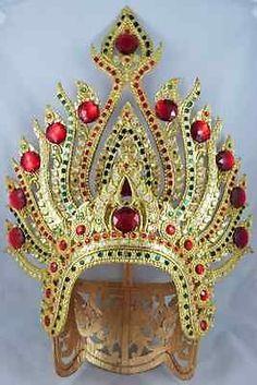 Elegance Thai Traditional Dancer Headdress Costume Ram Thai Crown Thai Dancer