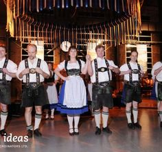 Read about the Oktoberfest Celebration special event we put together. Guests were greeted by costumed actors in Lederhosen as they entered the venue. German Beer, Shall We Dance, Lederhosen, Corporate Events, Dancers, Special Events, Celebration, Actors, Fun