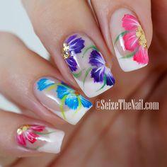 One-stroke flowers