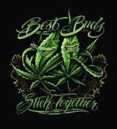 Plush Queen Best Buds Stick Together Pot Leaf Weed Faux Fur Blanket Mary Jane Marijuana Leaves, Medical Marijuana, Cheech Y Chong, Arte Bob Marley, Weed Tattoo, Tattoos, Arte Cholo, Ink Art, Clown Tattoo