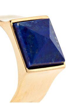 Isabel Marant - Gold-tone Lapis Lazuli Ring - 1