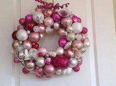 Hey, I found this really awesome Etsy listing at https://www.etsy.com/listing/104528321/20-pink-vintage-ornament-wreath-ready-to
