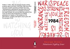 George Orwell's 1984 - Book cover in Contemporary Style (Penguin Books) of George Orwell 1984 Book, Penguin Books, Contemporary Style, Book Covers, Cover Books, Book Illustrations