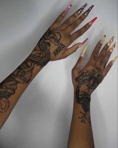Tribal Hand Tattoos, Name Tattoos On Wrist, Girl Neck Tattoos, Red Tattoos, Pretty Tattoos, Mini Tattoos, Forearm Tattoos, Cute Tattoos, Body Art Tattoos