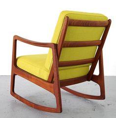 Ole Wanscher; Teak Rocking Chair for France & Son, 1951.