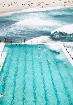 Bondi Icebergs Pool – Sydney, Australia so gorgeous, refreshing, ocean and pool and beach Sydney Australia, Australia Travel, Bondi Beach Australia, Australia Visa, Western Australia, Great Barrier Reef, Vacation Places, Places To Travel, Oh The Places You'll Go