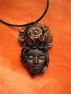 Solar Goddess Honey Calcite Pendant by LunaSolare on Etsy, $40.00