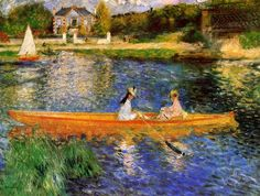 Pierre Auguste Renoir Banks of the Seine at Asnieres painting is shipped worldwide,including stretched canvas and framed art.This Pierre Auguste Renoir Banks of the Seine at Asnieres painting is available at custom size. Pierre Auguste Renoir, Edouard Manet, Claude Monet, August Renoir, Renoir Paintings, Oil Paintings, Landscape Paintings, National Gallery, Art History